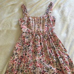 Forever 21 pink floral dress size medium
